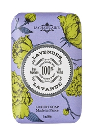 La Chatelaine Lavender Luxury Soap - Front cropped