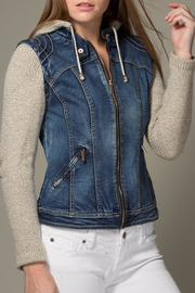 LA Coalition Denim Vest Jacket - Product Mini Image