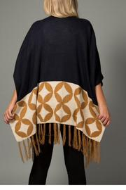 LA Coalition Retro Inspired Shawl - Front full body