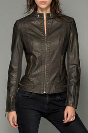LA Coalition Zip Vegan Leather Jacket - Product Mini Image