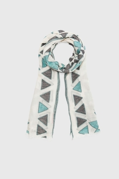 Shoptiques Product: Turquoise Triangles Scarf