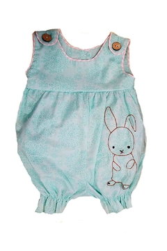 La Jenns Baby-Girl Embroidered-Bunny Romper - Product List Image