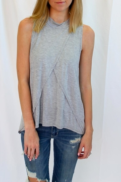 Shoptiques Product: Soft Grey Sleeveless Top