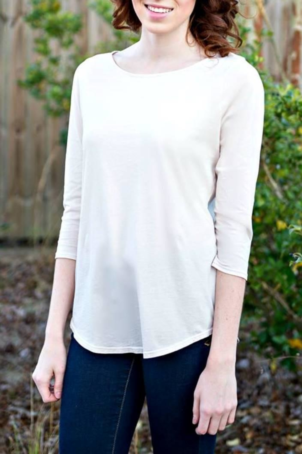 LA Made Solid Boatneck Top - Main Image
