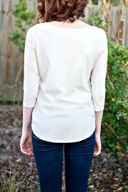 LA Made Solid Boatneck Top - Front full body