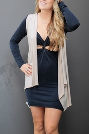 LA Made Taupe Cardigan Vest - Front cropped