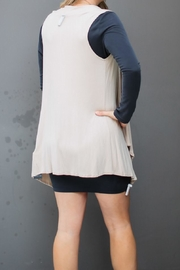 LA Made Taupe Cardigan Vest - Front full body