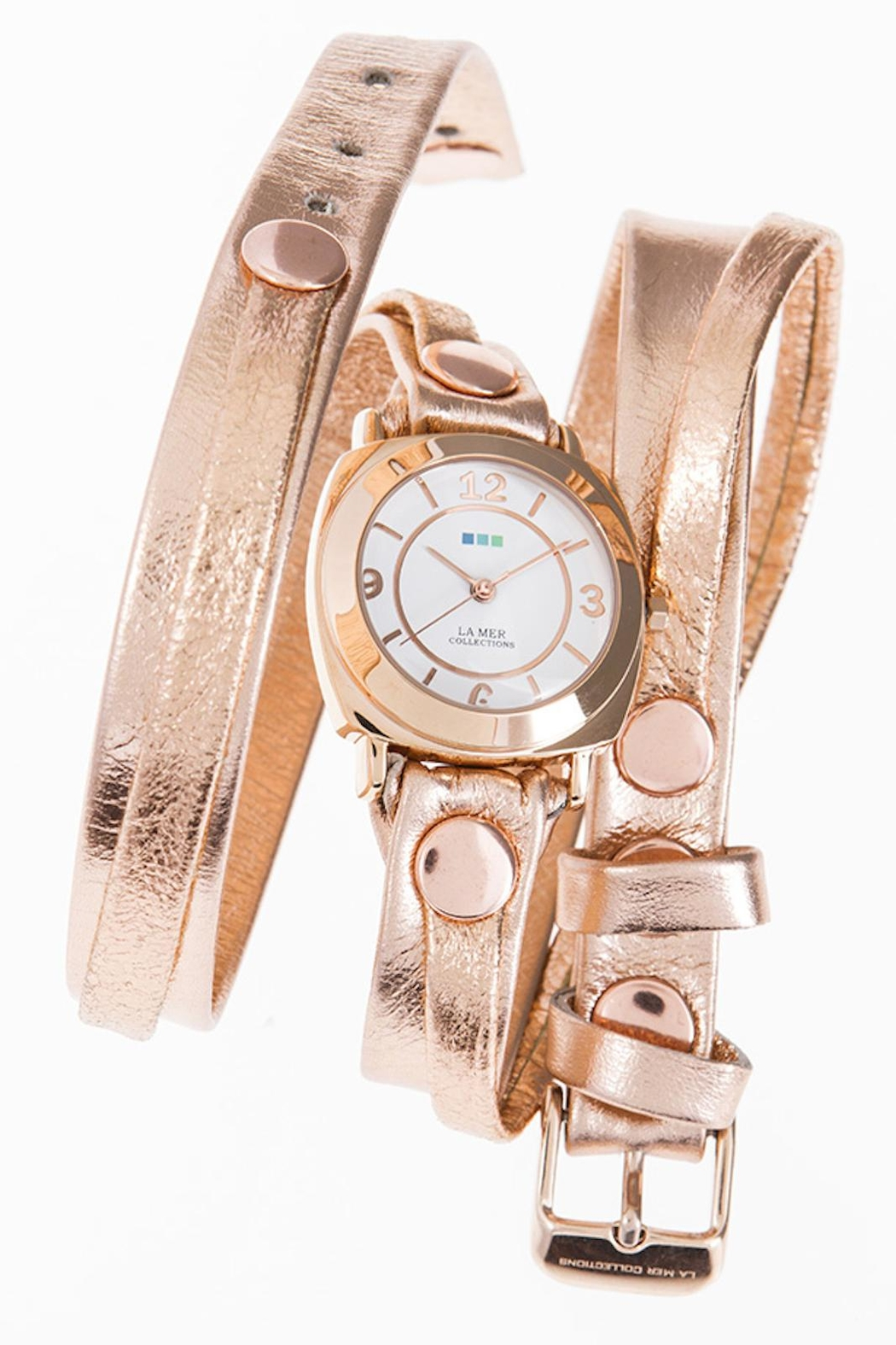 LA MER Collections Metallic Wrap Watch - Front Cropped Image