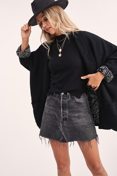 LA MIEL  Button Front Blazer Dropped Dolman Sleeves - Alternate List Image