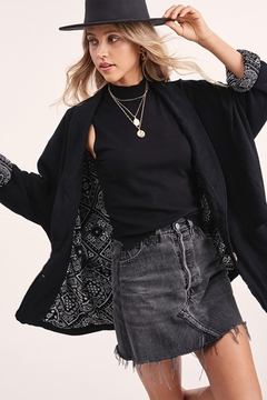LA MIEL  Button Front Blazer Dropped Dolman Sleeves - Product List Image