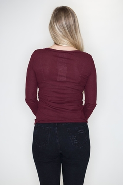 LA MIEL  Button Henley Top - Alternate List Image