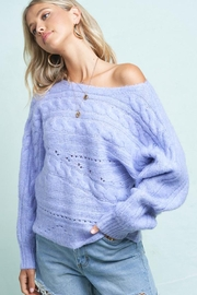 LA MIEL  Cable Knit Boat Neck Sweater Jumper - Product Mini Image