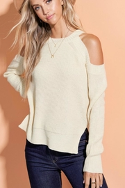 LA MIEL  Cold Shoulder Sweater-Top - Product Mini Image