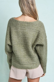 LA MIEL  Cute Cable Knit Pullover Sweater - Side cropped