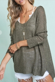 LA MIEL  Exposed Seam Sweater - Front cropped