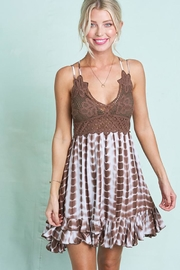LA MIEL  Flower Crochet Tie Dye Slip Dress - Product Mini Image