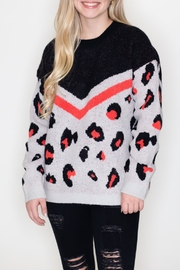 LA MIEL  Leopard Print Sweater - Product Mini Image