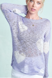 LA MIEL  Light-Knit Sweater With Distressed-Details - Product Mini Image