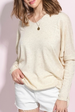 LA MIEL  Olive Slouchy Sweater - Product List Image