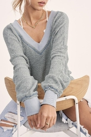 LA MIEL  Oversized Waffle Sweater - Product Mini Image