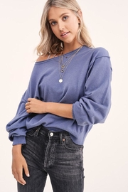LA MIEL  Solid Off Shoulder Pullover Sweater Top - Front cropped