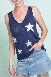 LA MIEL  Star Sweater Tank - Front cropped