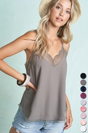 LA MIEL  Tory Racer Back Cami - Front cropped