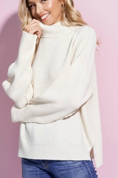Shoptiques Product: Turtleneck Ivory Sweater