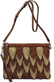LA MIEL  Two-Tone Leaf Cross-Body - Product Mini Image