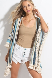 LA MIEL  Unicorn Fringed Poncho - Product Mini Image