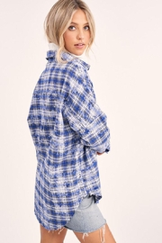 Mint Cloud Boutique Vintage Checkered Plaid Flannel Shirt - Front full body