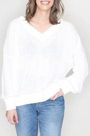 LA MIEL  Waffle Knit Top - Product Mini Image