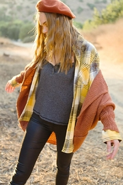Mint Cloud Boutique Classic Vintage Checkered Plaid Flannel Shirt - Front full body