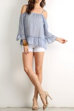 Shoptiques Product: Ruffled Off-Shoulder Top