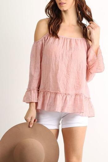 f0e753995d63a2 La Reine Ruffled Off-Shoulder Top from Texas by JChronicles — Shoptiques