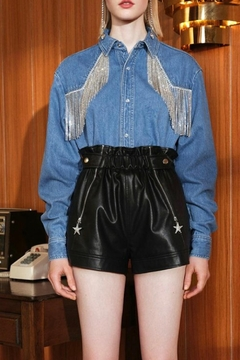 La Ros Denim Tassel Top - Product List Image