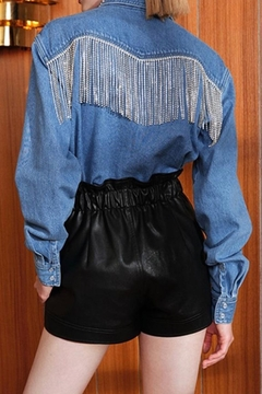 La Ros Denim Tassel Top - Alternate List Image