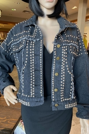 La Ros Stud Detail Denim Jacket - Product Mini Image