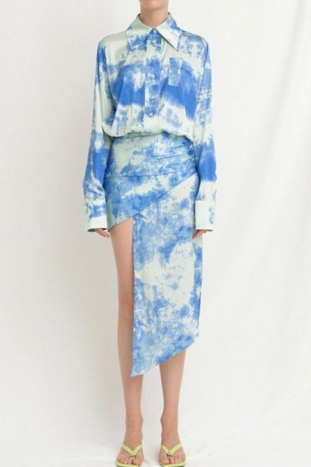 La Ros Tie Dye Dress - Back Cropped Image