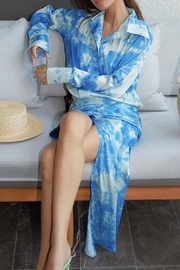 La Ros Tie Dye Dress - Front full body