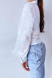 La Ros White Feather Blouse - Side cropped