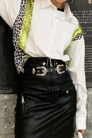 La Ros White Shirt With Sequins - Front cropped