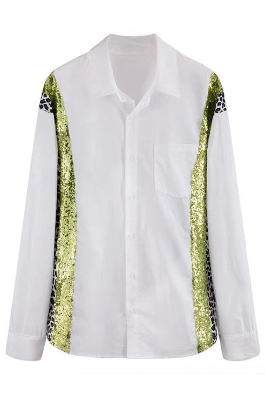 La Ros White Shirt With Sequins - Side Cropped Image