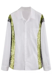 La Ros White Shirt With Sequins - Side cropped