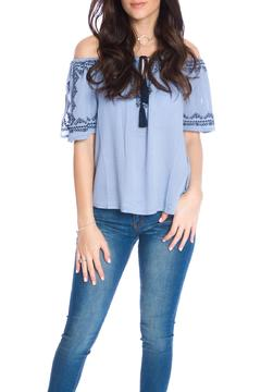 Shoptiques Product: Embroidered Flare Top