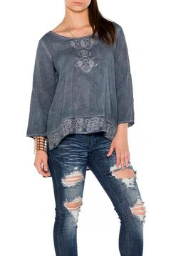 Shoptiques Product: Embroidered Hi Lo Blouse