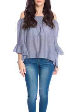 Shoptiques Product: Ruffle Off The Shoulder Top