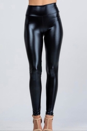 La Scala Black Pu Leggings - Product Mini Image