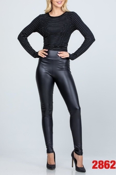 Shoptiques Product: Faux-Leather High-Waisted Leggings