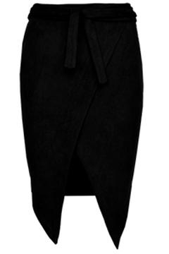 Shoptiques Product: Black Faux Suede Skirt